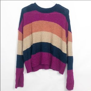 BP Striped  Crew Neck Soft Sweater NWOT Large